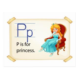 Een brief P voor prinses Briefkaart
