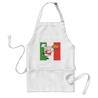 Een chef-kok steunt Pizza Standaard Schort
