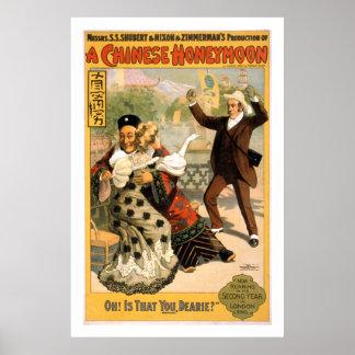 Een Chinees Poster van het Theater van Wittebroods