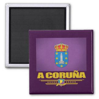 Een Coruna Vierkante Magneet