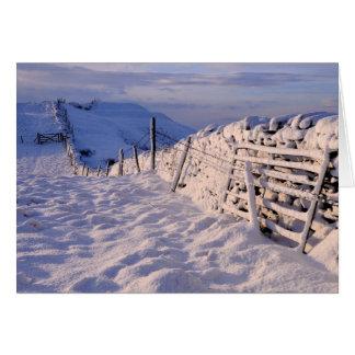 Een Cumbrian de winterlandschap Briefkaarten 0
