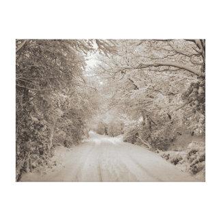 Een dag van de Winters Canvas Afdrukken