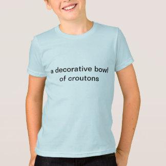 een decoratieve kom van croutons t shirt