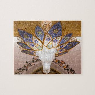 Een decoratieve lichte kroonluchter, de Moskee van Foto Puzzels