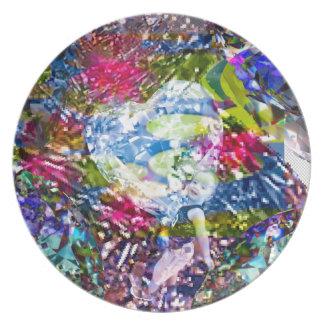 Een diamanthart glanst op de vijver bord