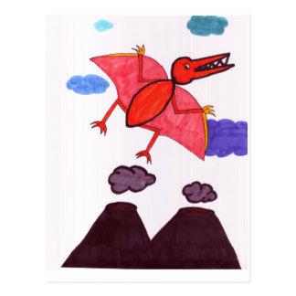 Een dinosaurus briefkaart
