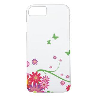 Een eenvoudig bloemenpatroon iPhone 8/7 hoesje
