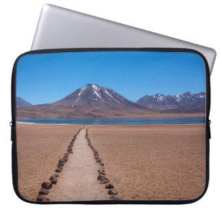Een eenzame weg laptop sleeve