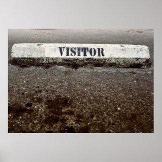 Een enkel Bezoeker Poster
