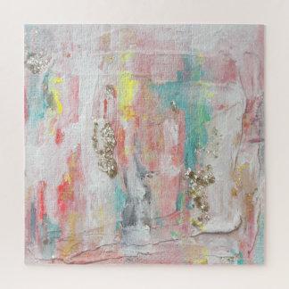 Een fijne Dag - het Gemengde Abstracte Schilderen Puzzel