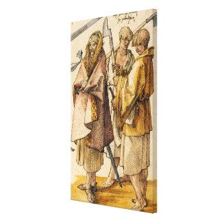 Één Gallòglach en Twee Kerns - Albrecht Dürer Canvas Afdrukken