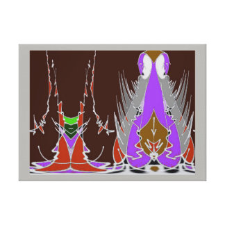Een gat in de Muur - Speelse Tapisserie Canvas Afdrukken