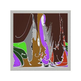 Een gat in de Muur - Speelse Tapisserie Canvas Print