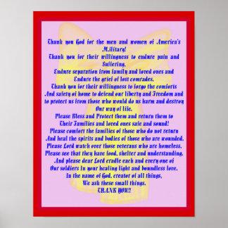Een gebed voor Onze Militairen Poster