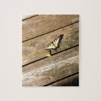 Een gele Vlinder Puzzel