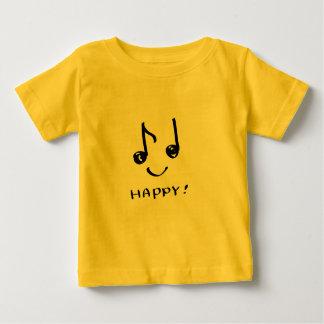 een gelukkige muzieknota baby t shirts