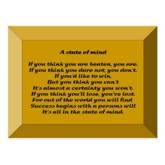Een gemoedsgesteldheid briefkaart