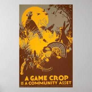 Een gewas van het Spel is Communautaire Activa Poster
