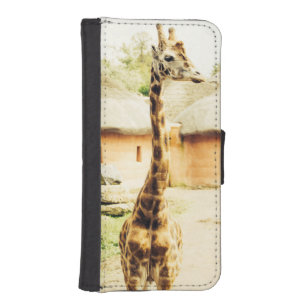 Een giraf in een Afrikaans Dorp, Dierlijke Foto iPhone 5 Portemonnee Hoesje