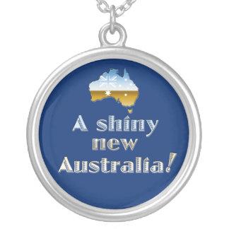 Een glanzende Nieuwe Tegenhanger van Australië Zilver Vergulden Ketting