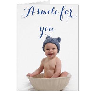 Een glimlach voor u… kaart