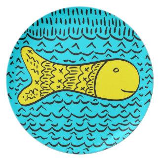 Een goudvis bord