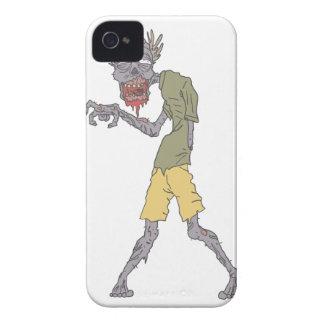 Één Griezelige Zombie van het Wapen met Rottend iPhone 4 Hoesje
