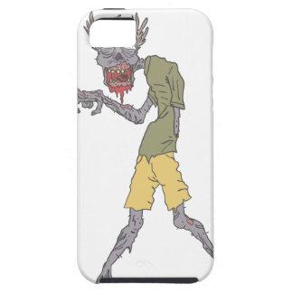 Één Griezelige Zombie van het Wapen met Rottend Tough iPhone 5 Hoesje