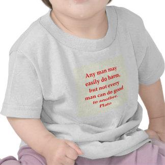 Een groot citaat van Plato T-shirt