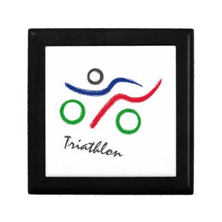 Een grote gift Triathlon voor uw vriend of familie Decoratiedoosje