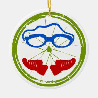 Een grote gift Triathlon voor uw vriend of familie Rond Keramisch Ornament