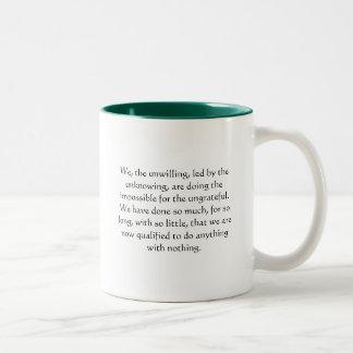 Een grote gift voor een medewerker tweekleurige koffiemok