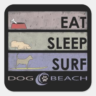 Een grote sticker voor hond en strandminnaars!