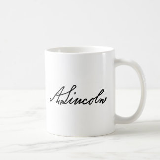 Een handtekening van Lincoln Koffiemok