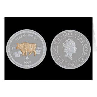 Een herdenkings zilveren muntstuk briefkaarten 0