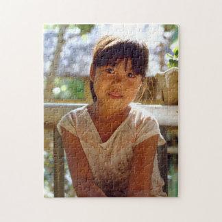 Een het Gloeien Portret Foto Puzzels