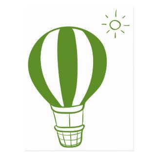Een hete luchtballon en een zon briefkaart