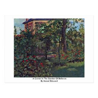 Een hoek in de Tuin van Bellevue Briefkaart