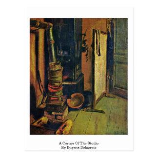 Een hoek van de Studio door Eugene Delacroix Briefkaart