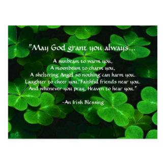 Een Ierse Zegen Briefkaart