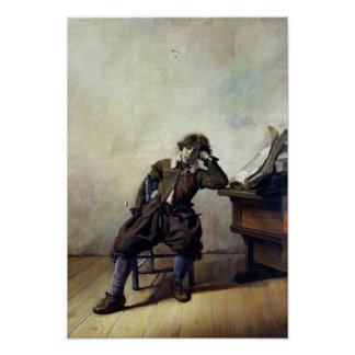 Een jonge Student in zijn Studie of, de Roker Poster