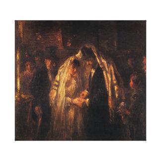 Een Joods Huwelijk door Jozef Israels - Circa 1903 Stretched Canvas Prints