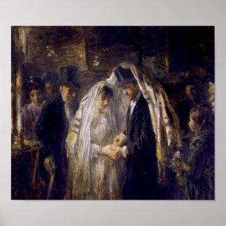 Een Joods Huwelijk door Jozef Israëls Poster