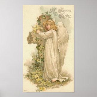 Een Joyous Engel Vintage Pasen van Pasen Poster