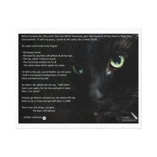 een katten het sterven wenscanvas canvas print
