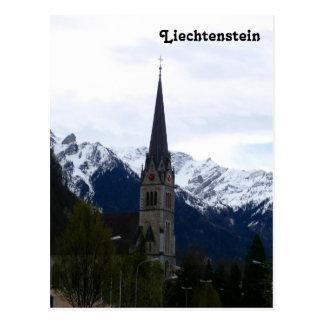 Een kerk in Vaduz, Liechtenstein Briefkaart