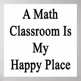 Een klaslokaal van de Wiskunde is Mijn Gelukkige Poster