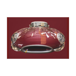 Een klassiek e-Type van Jaguar vanaf 1961 Canvas Print