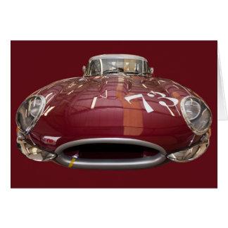 Een klassiek e-Type van Jaguar vanaf 1961 Kaart
