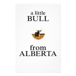 Een kleine Stier van Alberta Briefpapier